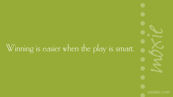 Winning is easier when the play is smart